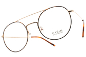 CARIN 光學眼鏡 LADI C2 (琥珀棕-金) 韓星秀智代言 復古雙槓造型款 # 金橘眼鏡