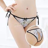 性感內褲 透視愛侶刺繡花開檔內褲(白)-玩伴網【雙12快速出貨】