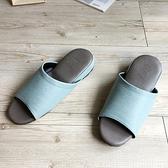 【iSlippers】極致風格-厚跟紓壓皮質室內拖鞋-多色任選沐森綠L