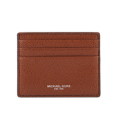 【MICHAEL KORS】WARREN皮革6卡名片/卡片夾(焦糖色) 36T7LWRD1L LUAAGAE