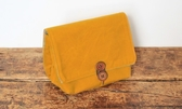 帆布袋中袋 芥末黃 相機護套 袋中袋【日本 monogram】適微單眼相機