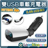 【樂購王】《雙USB車載充電器》3.4A輸出 警示提醒 汽車電瓶 汽車電池 偵測 檢測【B0237】