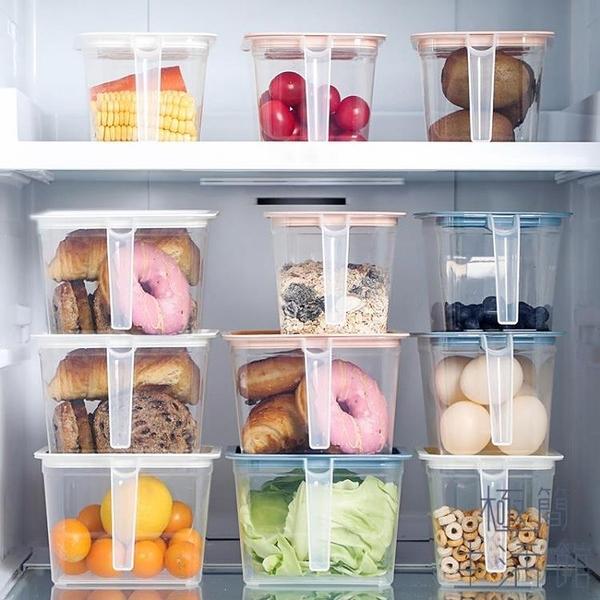 透明密封罐塑料帶蓋保鮮盒帶手柄廚房收納盒儲物盒【極簡生活】