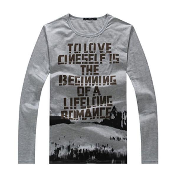 【99現貨限量】 質感設計款潮流長袖T恤型男必備款