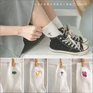 襪子   藝文風設計系小白襪,學生襪    四色原單-小C館日系