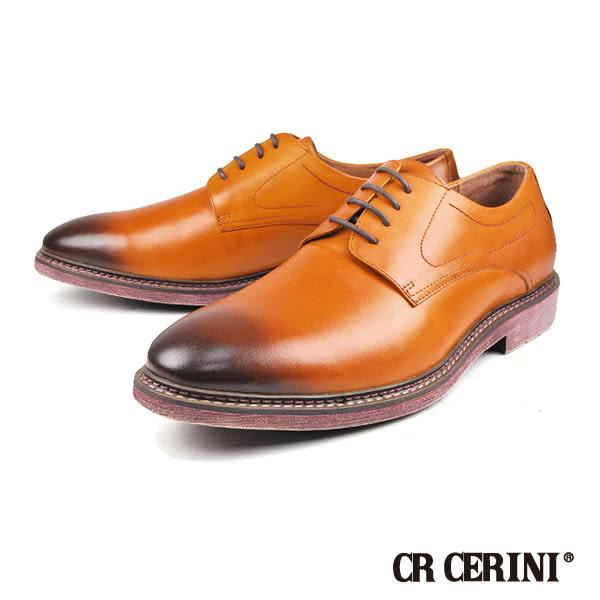 【CR CERINI】經典造型軟皮德比休閒紳士鞋  咖啡(91503-BR)
