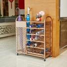 創意酒店大堂金色雨傘架學校瀝水收納架簡約家用傘桶公司置物架子 果果輕時尚NMS