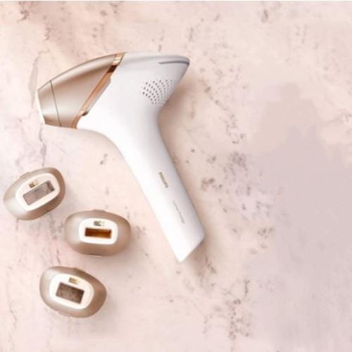 PHILIPS 【日本代購】飛利浦 光美容儀Lumer Prestage 香檳金白色 - BRI948/70