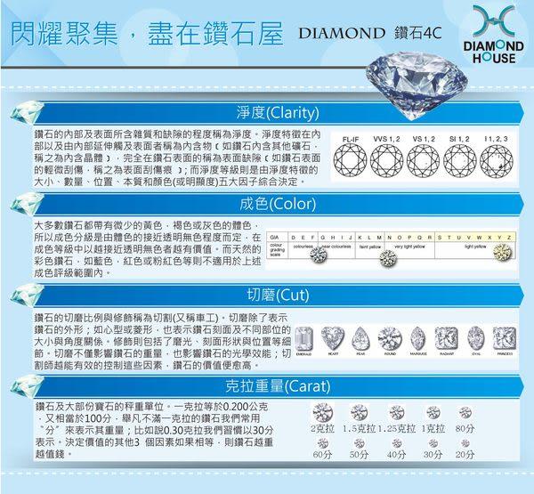 ﹝鑽石屋﹞20分鑽石墜子 雙色k金墜子 DD021284