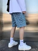牛仔褲牛仔短褲男夏季超火ins寬鬆韓版學生潮牌嘻哈bf五分薄款休閒褲子 潮人