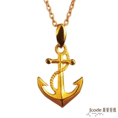 J'code真愛密碼- 啟航 黃金/316L玫瑰金白鋼項鍊