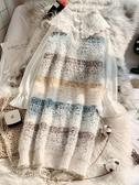 很仙的毛衣裙洋氣2019秋裝新款外穿馬甲中長款背心無袖針織連衣裙