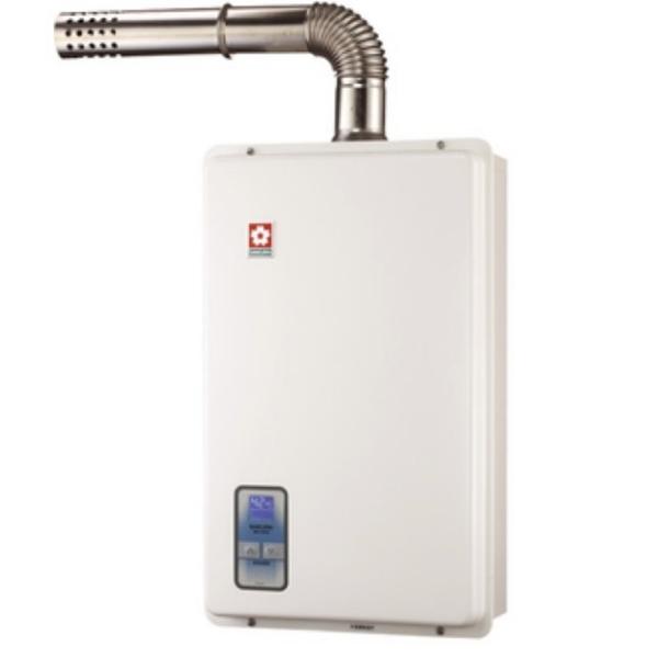 【櫻花 SAKURA】13L強制排氣數位恆溫熱水器 SH-1333  (全台標準安裝,安裝費由現場安裝人員收取)