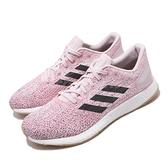 【海外限定】adidas 慢跑鞋 PureBOOST DPR W 粉紅 白 女鞋 編織鞋面 運動鞋【ACS】 D97402