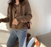 寬鬆外穿慵懶風毛衣女2019秋冬韓風小香風加厚針織開衫短款外套女