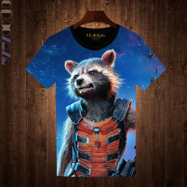 銀河護衛隊2新品短袖T恤男 格魯特小樹人火箭浣熊星爵 青少年潮T