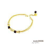 J'code真愛密碼金飾 仙草泡泡黃金/水晶手鍊