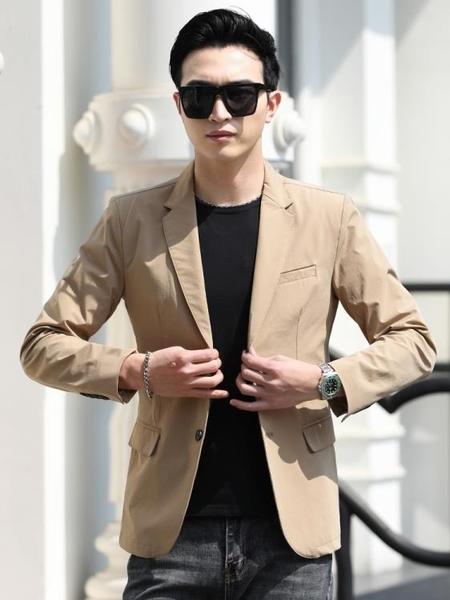 西裝外套 休閒西裝男薄款夏季商務防曬衣超薄半里上衣小西裝潮修身單件外套-完美