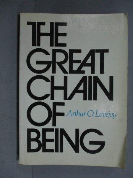 【書寶二手書T6/原文書_IOG】The Great Chain of Being