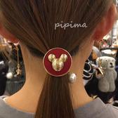韓國奇奇+珍珠 髮圈-170125-pipima
