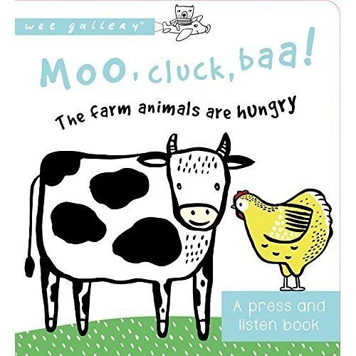 Moo, Cluck, Baa! The Farm Animals are Hungry (A Press And Listen Book) 動物們要吃飯囉! 硬頁音效書(美國版)