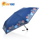 UV100 防曬 抗UV-晴雨三摺傘-熱帶風情