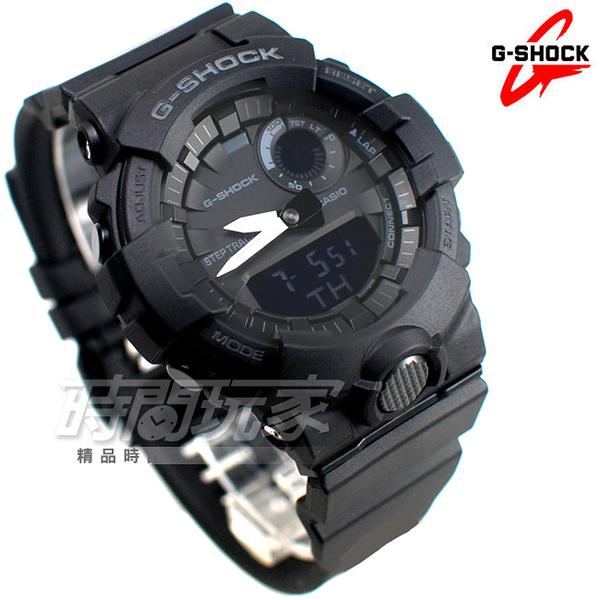 G-SHOCK GBA-800-1A 藍牙連線跑步紀錄計時運動錶 鬧鈴 男錶 防水手錶 黑色 GBA-800-1ADR CASIO卡西歐
