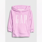 Gap女幼時尚撞色徽標套頭連帽衫540086-紫色