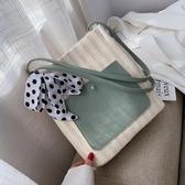 洋氣包包編織女包夏季新款流行側背包大容量女時尚百搭托特包LX新年禮物
