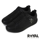 Royal Elastics Icon 黑色 皮質 套入 運動休閒鞋 女款 NO.J0745【新竹皇家 96511-999】