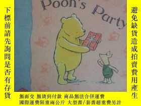 二手書博民逛書店Pooh s罕見Party(圖畫精美,全英文,硬紙板印刷,撕不破