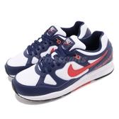 Nike 復古慢跑鞋 Air Span II 藍 紅 老爺鞋 1988經典復刻款 運動鞋 男鞋 女鞋【PUMP306】 AH8047-404