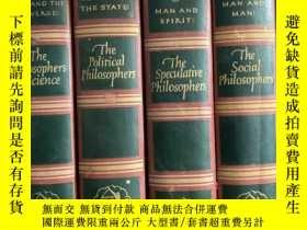 二手書博民逛書店英文原版:Man罕見and spirit : The speculative philosophers 1--4