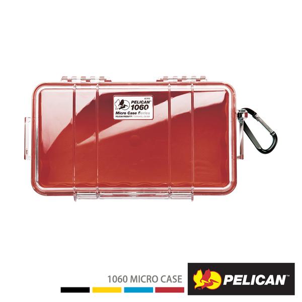 美國 PELICAN 派力肯 塘鵝 1060 Micro Case 微型防水氣密箱 透明 紅色 公司貨