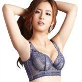 思薇爾-迷情魅影系列B-F罩華麗蕾絲包覆背心型內衣(緋煙藍)