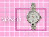 【時間道】MANGO時尚俏麗仕女腕錶 /白貝殼面愛心鋼帶(MA6729L-81)免運費