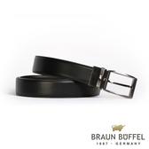 【BRAUN BUFFEL】經典紳士品味穿針式皮帶(鎗色)BF19B-006T-SGU