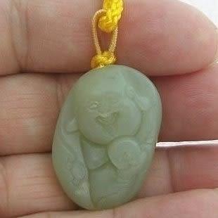 【歡喜心珠寶】【和闐玉籽料雕彌勒佛吊飾】天然新疆和闐玉「附保証書」收藏品,超低價售出!