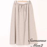 「Hot item」圓點綁帶長裙 (提醒 SM2僅單一尺寸) - Sm2