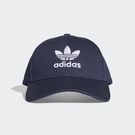 adidas 老帽 Trefoil Baseball Cap 深藍 白 三葉草 棒球帽 男女款 【PUMP306】 DV0174