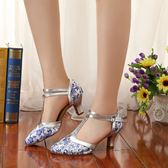 拉丁舞鞋女成人軟底粗低跟國標交誼摩登舞蹈鞋廣場跳舞鞋白色秋冬mandyc衣間