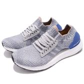 adidas 慢跑鞋 Ultra Boost X 灰 藍 透氣避震 回饋中底 運動鞋 女鞋【PUMP306】 BB6155