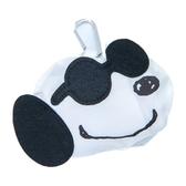 小禮堂 史努比 折疊尼龍環保購物袋 環保袋 側背袋 (黑白 墨鏡) 4901770-62007