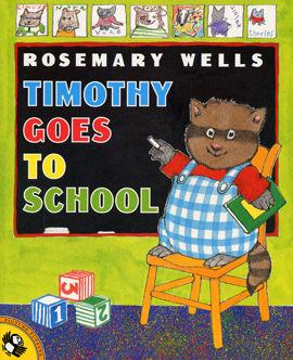 【麥克書店】TIMOTHY GOES TO SCHOOL  /英文繪本附CD