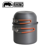 【RHINO 犀牛 K-2 犀牛雙人鋁合金套鍋】K-2/調理鍋/露營/鍋具