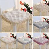 椅墊餐椅墊坐墊布藝四季防滑歐式簡約餐桌椅墊 LQ2948『小美日記』