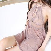 性感睡衣女夏火辣成人超薄款透明無袖兩件套裝吊帶睡裙小胸騷蕾絲  艾尚旗艦
