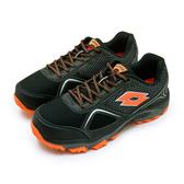LIKA夢 LOTTO 專業防潑水郊山越野跑鞋 CROSS RUN 跨越叢林系列 黑橘 0151 男