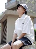 夏季男士衣服寬鬆韓版休閒短袖bf學生潮牌polo衫上衣 限時熱賣