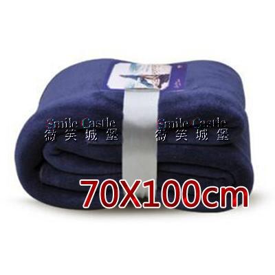 法蘭絨毛毯 70x100cm 素色珊瑚絨 兒童毛毯 四季空調毯 成人膝蓋毯  暴款商品【微笑城堡】